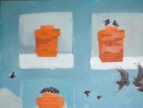 Unfinished paintings & photographs