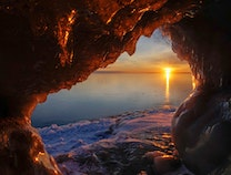Photo of Lake Superior Ice Cave