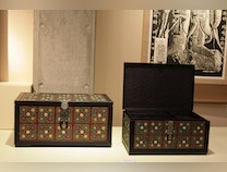 Photo of Korean Marriage Boxes with Lotus Flower and Vine Motif
